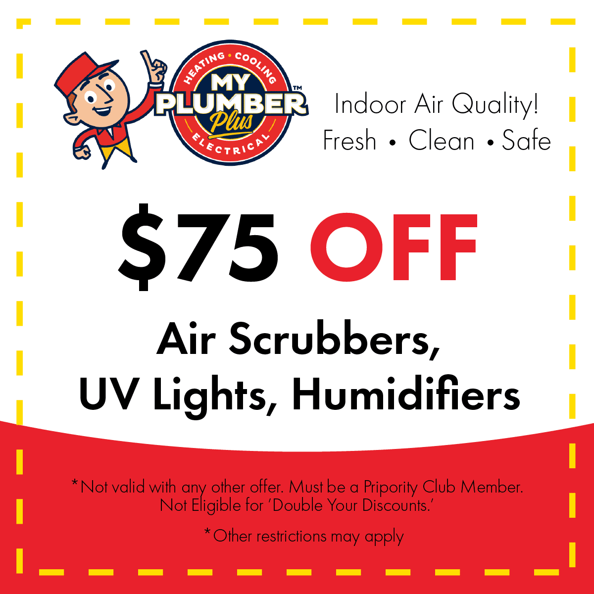Air scrubbers, UV lights, Humidifiers coupons