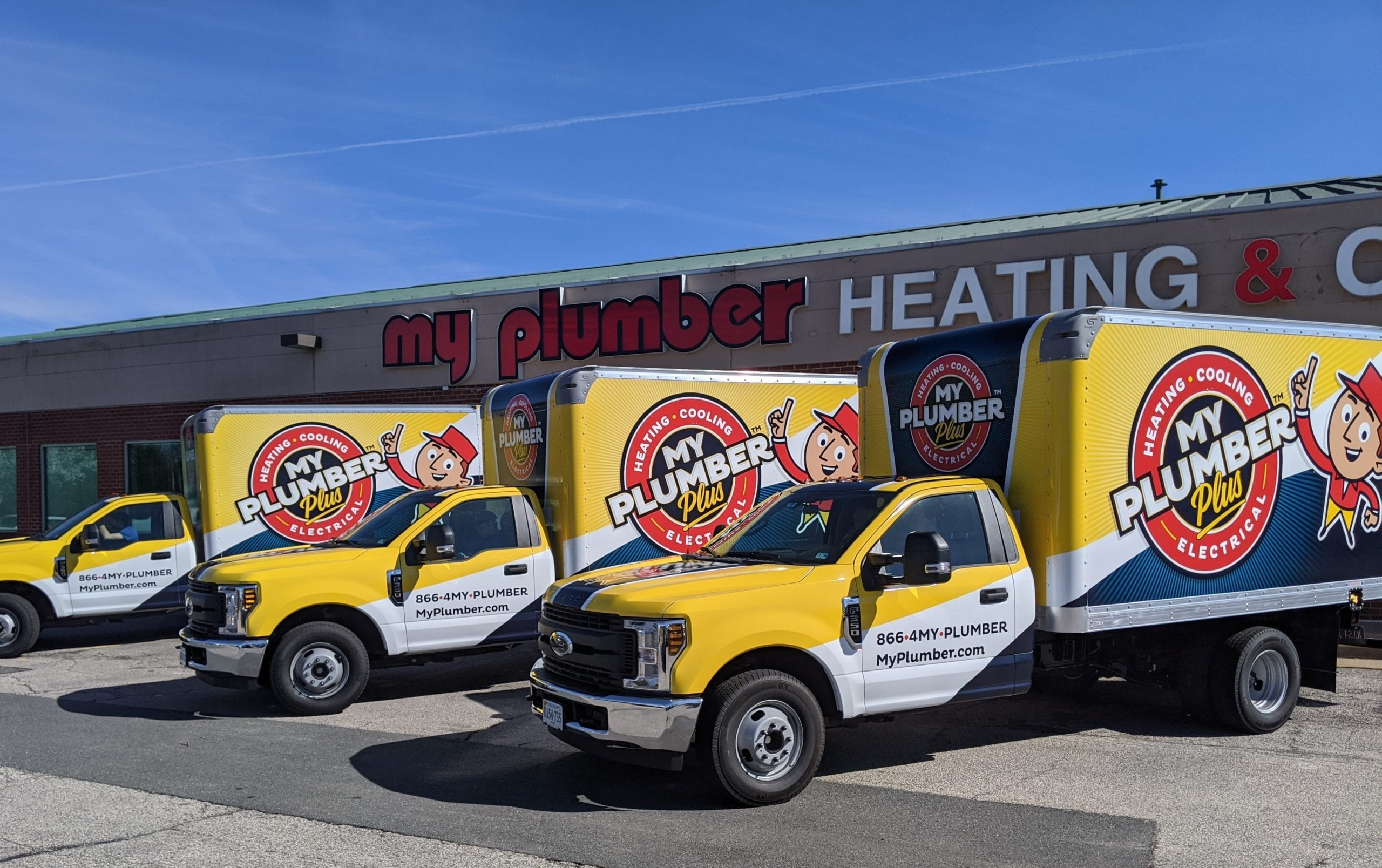 My Plumber Trucks Lined Up